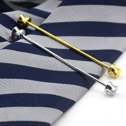 Модный деловой воротник булавка для мужчин рубашка воротник остается свадьбы серебро/золото тонкие значки в виде галстука воротник