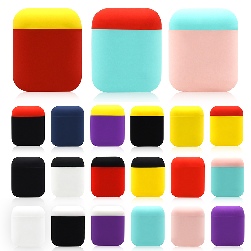 Ultrathin Cover For Airpods Case Soft Silicone Protective Cover For Airpods Charging Box TPU Acratchproof Case For Apple Airpods