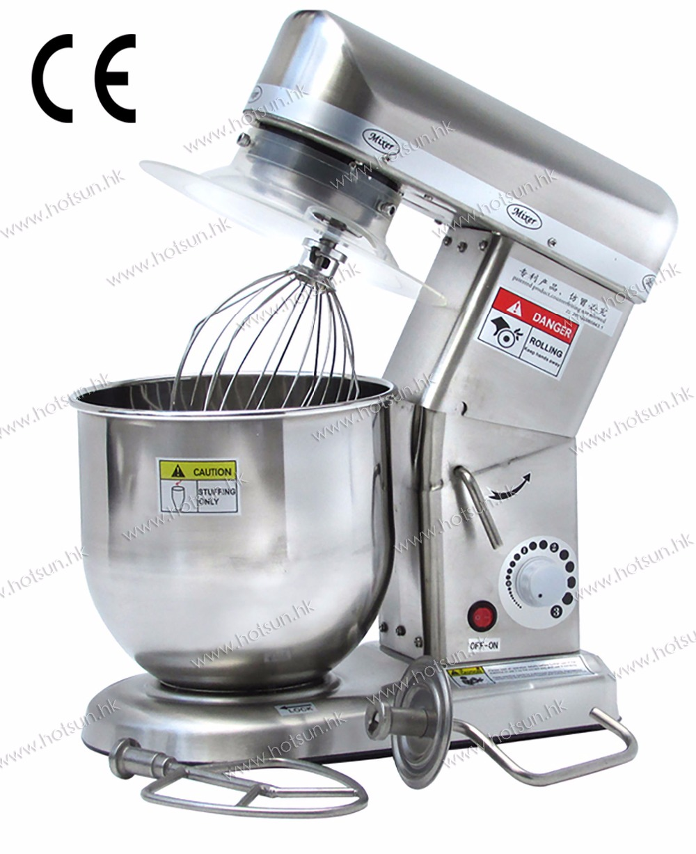 7L Commercial Use 220v Electric Stainless Steel Food Cream Batter Mixer Processor with 3pcs Stirrer