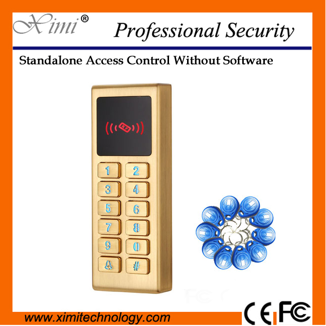 все цены на Good quality 125KHZ card reader M10 single access control system with LED keyboard & alarm ouput high security single door lock онлайн