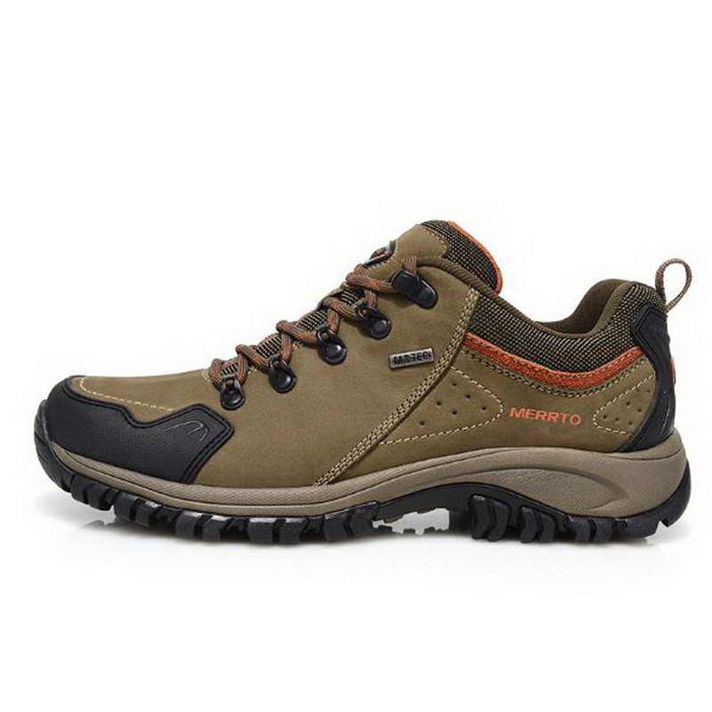 260340/Clorts Waterproof Hiking Boots Men Trekking Shoes Suede Leather Outdoor Shoes Wear Resistant Mountain Shoes yin qi shi man winter outdoor shoes hiking camping trip high top hiking boots cow leather durable female plush warm outdoor boot