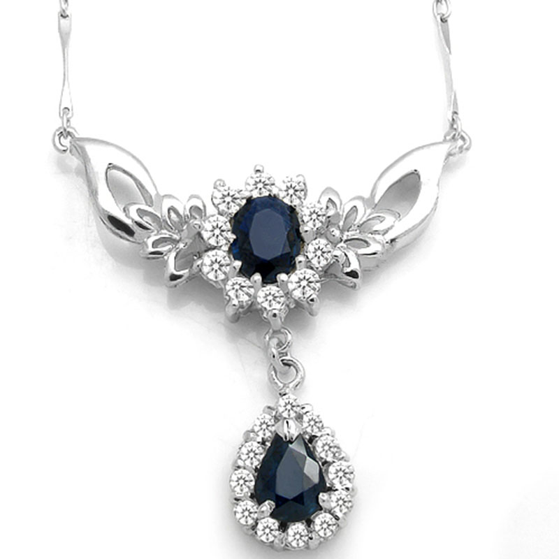 Collier Qi Xuan Dark Blue Stone Элегантная подвеска Necklace Real Necklace Quality guarante manufacturer
