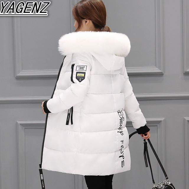 長い冬のジャケット2018ファッション冬ジャケットレディーハイエンドダウンコットンジャケット女性暖かい綿のコート女性服