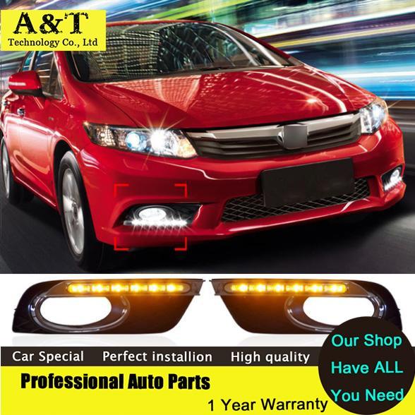 car styling Car styling DRL For HONDA CIVIC Ninth generation 2011 2012 2013 2014 Daytime running lights