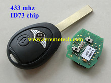 Remote Key Fob FULL COMPLETE 433MHZ WITH ELECTRONICS For Mini Cooper R50 R53 Alarm Systems Securit Fit For BMW Mini Rover 75