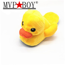 MVP BOY Indoor Plush Cartoon shoes Big Yellow Duck Cute Cotton Slippers Women Winter Warm Home Cotton-padded Shoes Soft bottom