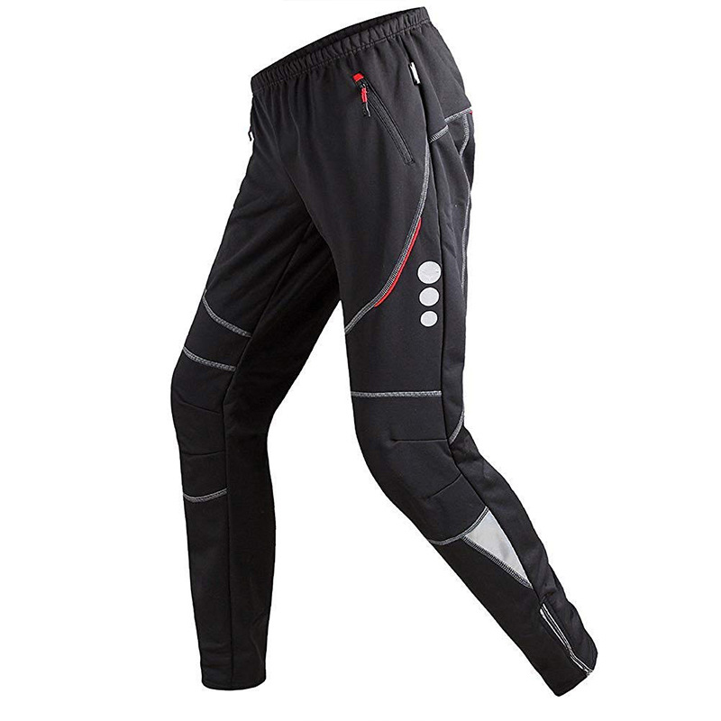 AGEKUSL Windproof Men Cycling Pants Winter Fleece Sports Trousers Keep Warm Thermal MTB Road Bike Bicycle Pants Cycling Clothing