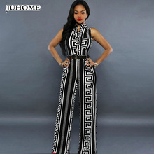 3a5b38e51f Fashion nova spandex palazzo pants jumpsuit birthday outfits for womens  Streetwear Striped print tunic party sexy