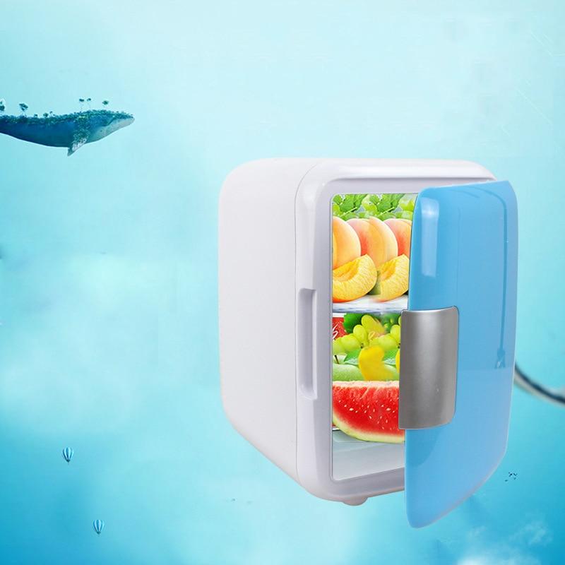 ⑥4L coche mini refrigerador frío y caliente pequeño hogar ...