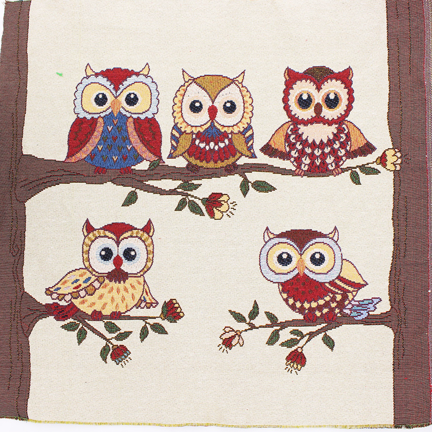 3 unids búho patrón de poliéster tela de algodón para patchwork diy tela tilda c