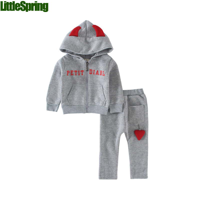 LittleSpring In stock !Retail Hot sale!Children's clothing sets Autumn & Winter boys' long sleeve hoodies suit kids clothes hot in stock s29gl512n10tfi02