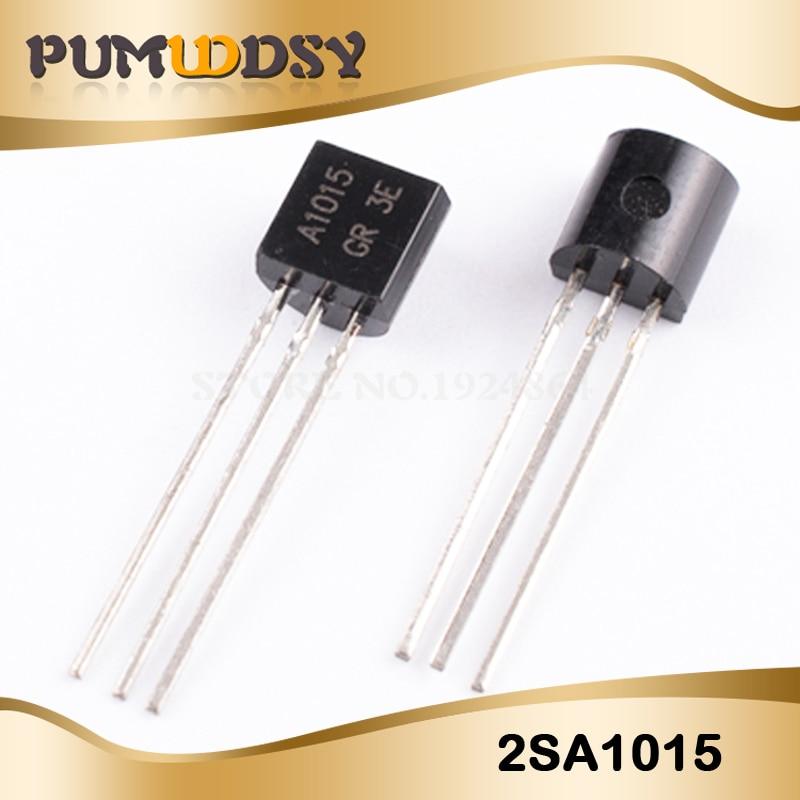 50PCS 2SA1015 A1015 0.15A//50V PNP TO-92 DIP transistors
