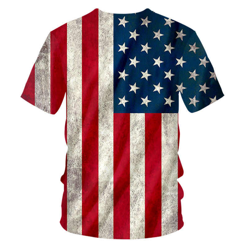 CJLM Флаг США Футболка Мужская Сексуальная 3d Футболка принт полосатый американский флаг мужская футболка летние топы короткий рукав футболки размера плюс 7XL
