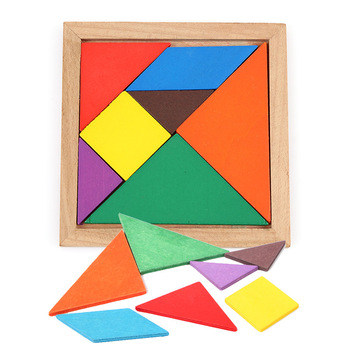 Colorful Wooden Tangram Brain Teaser Puzzle Toys Tetris Game Preschool Magination Intellectual Educational Kid Toy Gift fenglaiyi diy tetris puzzle retro style game tower baby colorful brick creative puzzle led night light children gift lamp
