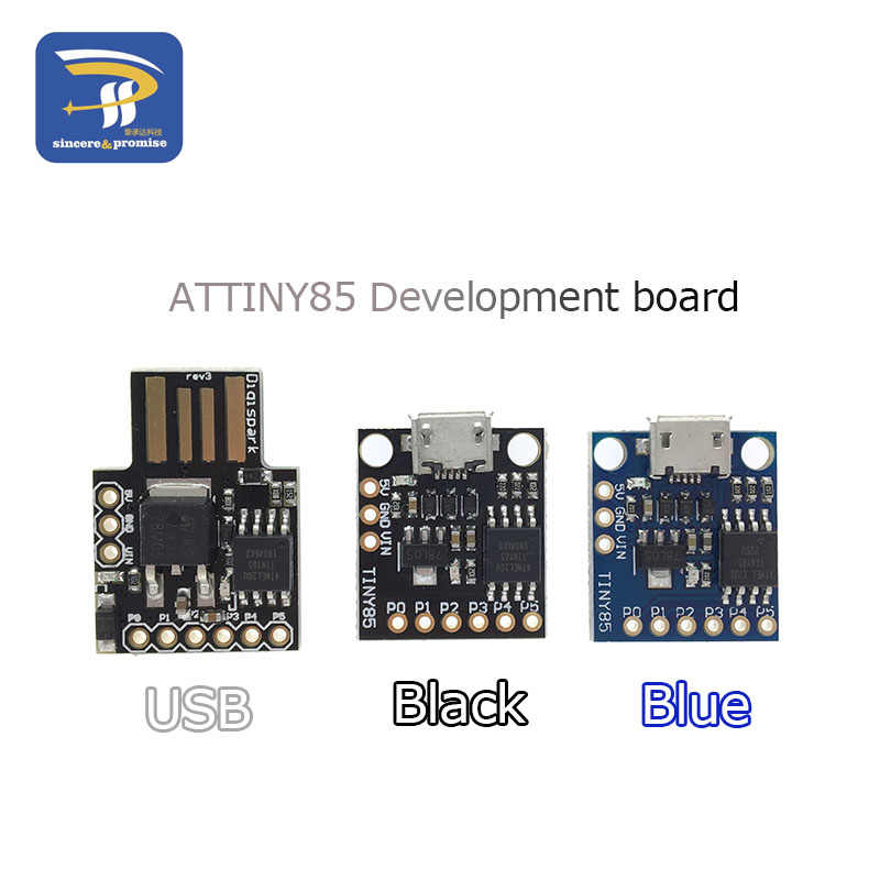 1PCS Blue Black TINY85 Digispark Kickstarter Micro Development Board ATTINY85 module for Arduino IIC I2C USB