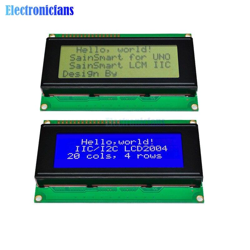 1 pces lcd placa 2004 20*4 lcd 20x4 3.3 v/5 v azul/amarelo e gree tela lcd2004 display lcd módulo lcd 2004 para arduino