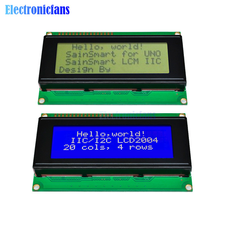 1 pièces LCD carte 2004 20*4 LCD 20X4 3.3 V/5 V bleu/jaune et Gree écran LCD2004 affichage LCD Module LCD 2004 pour arduino