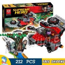 212 pcs Super Heroes Guardians Of the Galaxy Devastador Ataque M-navio Modelo 10743 Blocos de Construção de Brinquedos Tijolos Compatível com lego