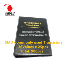 36 kinds x25pcs commonly used SMD Transistor Assortment Kit Assorted Sample Book
