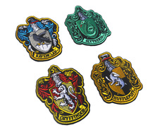 Harry Potter Four College Patches Harry Alien Iron On Badges Student Clothes Embroidered Patch For Clothing DIY Jeans
