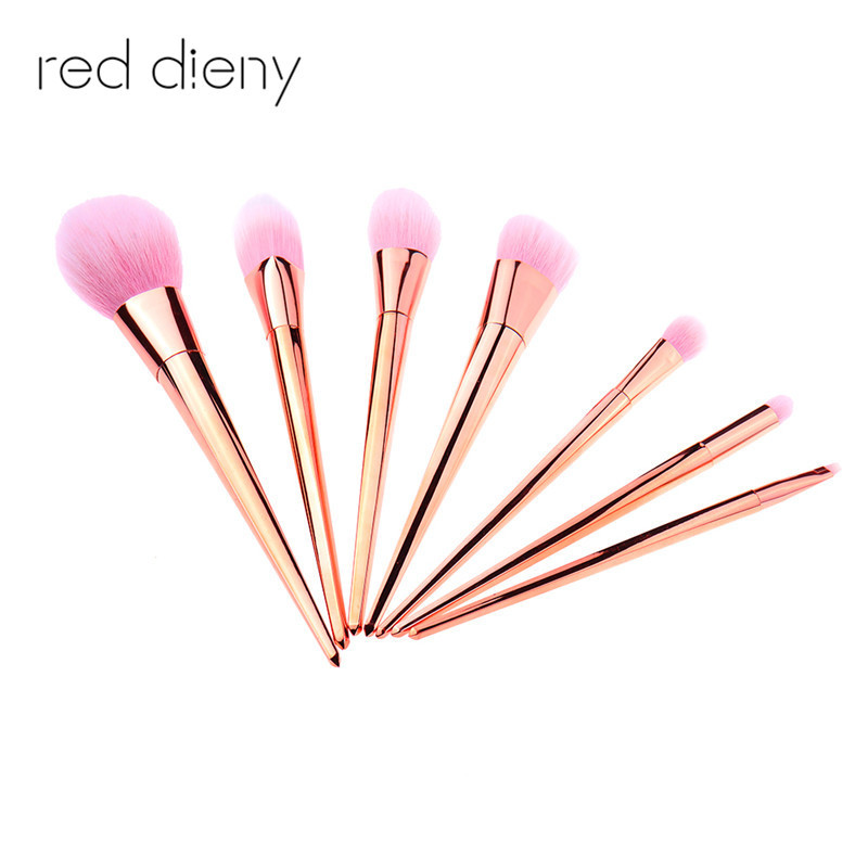 7pcs/set Makeup Brushes Powder Foundation Brush Contour Concealer Brushes Blush Brush High Quality Beauty Make Up Tools