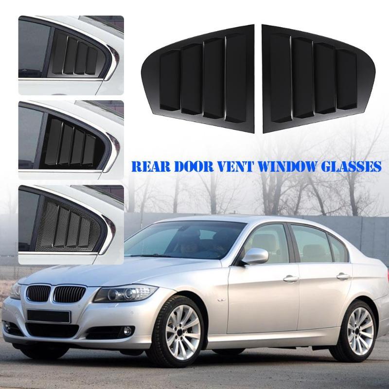 1 paire voiture côté arrière gauche + droite fenêtre quart panneau côté évent Scoop couverture pour BMW série 3 E90 2009-2011