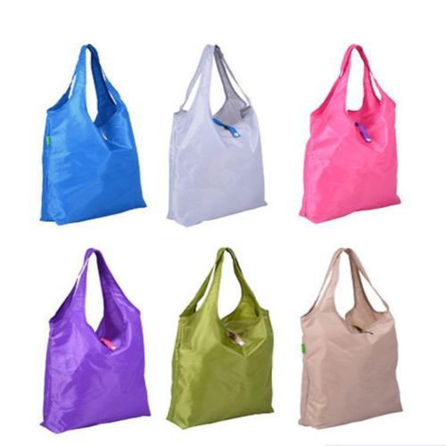 Newly Folding Reusable Shopping Storage Bag waterproof Pouch Shoulder Tote Handbag portable Grocery Bag #641888 floral folding reusable grocery nylon bag large strawberry shopping bag cute travel tote