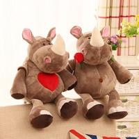 Kawaii Emulational Rhinoceros Big Size Plush Toys Pillow Baby Sleeping Appease Doll Girlfriend Birthday Gift Kids Christmas Gift