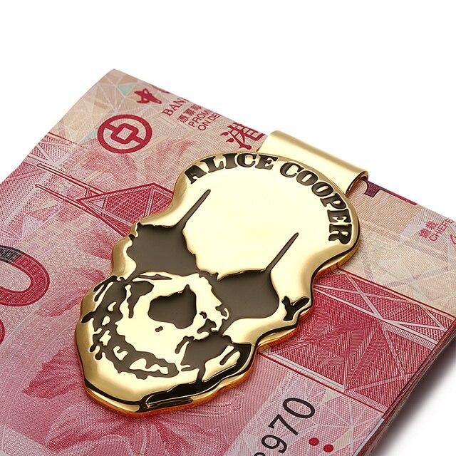 Modern - Luxury Brand New 2017 Copper Skull Icon Money Clip Slim Pocket Purse Cash Organizer Clamp Men Women Wallet