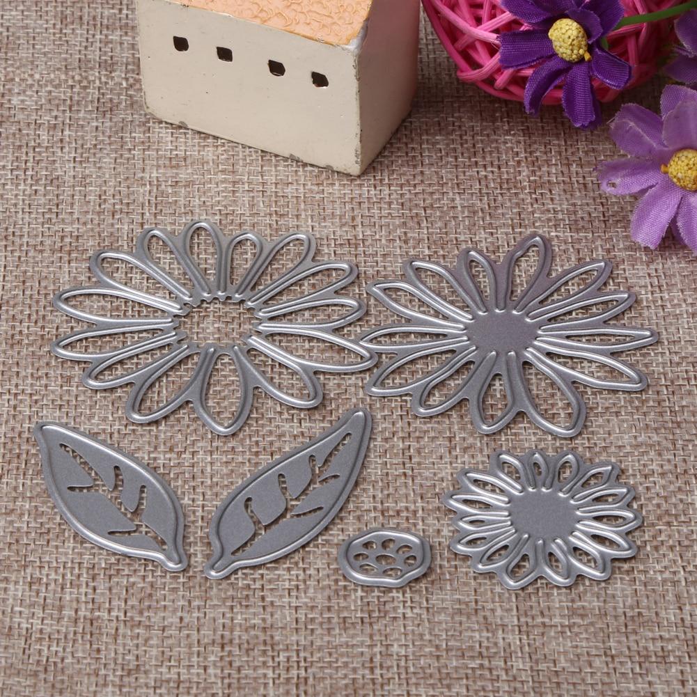Flowers Leaves Set Metal Die Cutting For Household DIY Scrapbooking Photo Album Decorative Embossing Folder Paper Cards Crafts