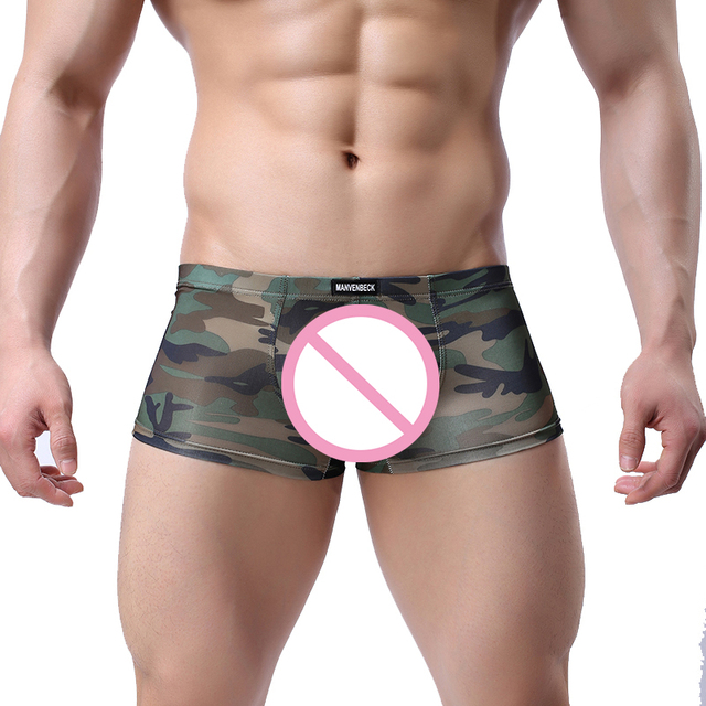 e6b32b7a4b New Underwear Men Boxers Cueca Shorts Sexy Mens Underpants Male Boxer  Military Camouflage Army Underwear Boxer