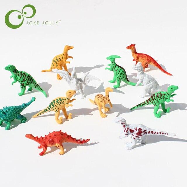 Conjunto de Brinquedos de Plástico Dinossauro Parque pçs/lote 12 Mundo Jogar Brinquedos de Dinossauros Modelo de Ação e Figuras Melhor Presente para Os Meninos GYH