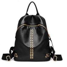 2016 пакета(ов) женщин известных брендов женщины рюкзак моды прекрасные стиль Металлические цепи украсить девочек PU материал