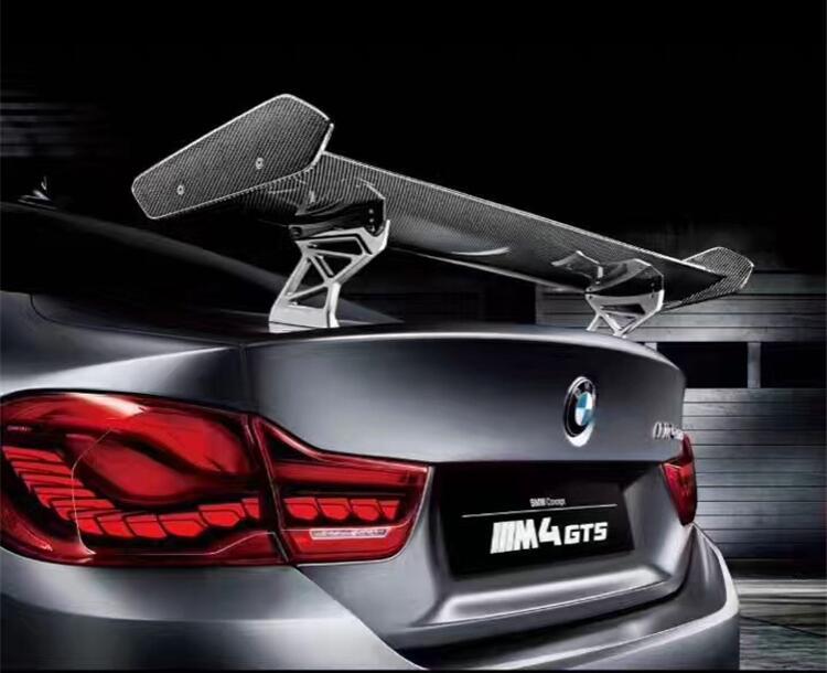 VOITURE De Fiber DE carbone AILE ARRIÈRE TRONC SPOILER POUR BMW M2 F87 M3 F80 M4 F82 F83 F84 2014 2015 2016 2017 2018 GT GTS STYLE PAR SME