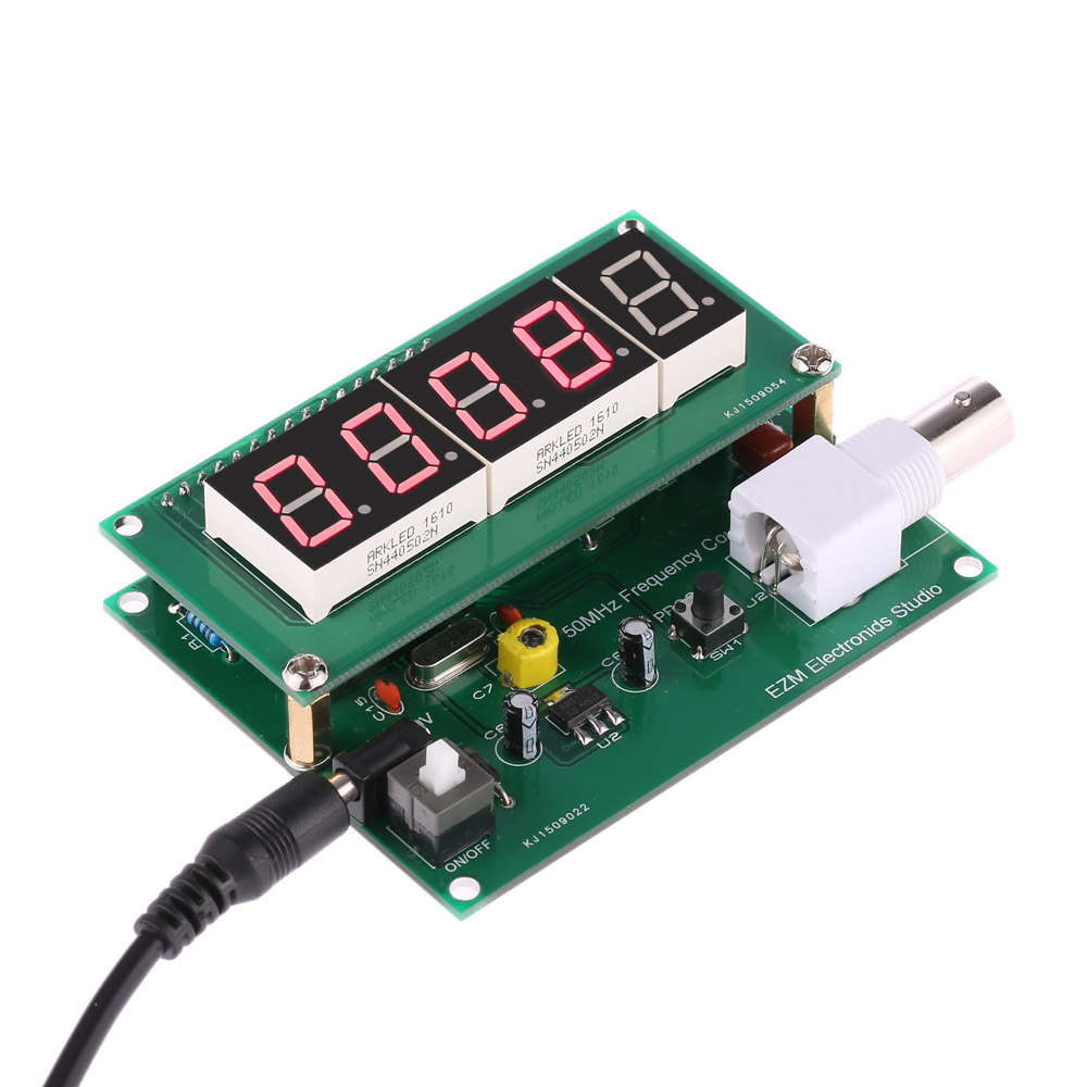 1hz 75mhz Frequency Counter 7v 9v 50ma Diy Kit Cymometer Module Clock Generator With Chip On Board Cob 50mhz Meter High Sensitivity Measurement Tester