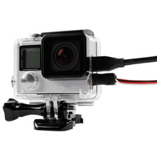 For GoPro Side Open Protective Case Housing Box Connectable Data Cable for Go pro Hero 4 3+ Cover Action Camera Accessories Set