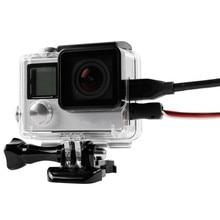 สำหรับ GoPro ป้องกันกรณีเปิดกล่องเชื่อมต่อข้อมูลสำหรับ Go Pro HERO 4 3 + ฝาครอบ Action ชุดอุปกรณ์เสริม