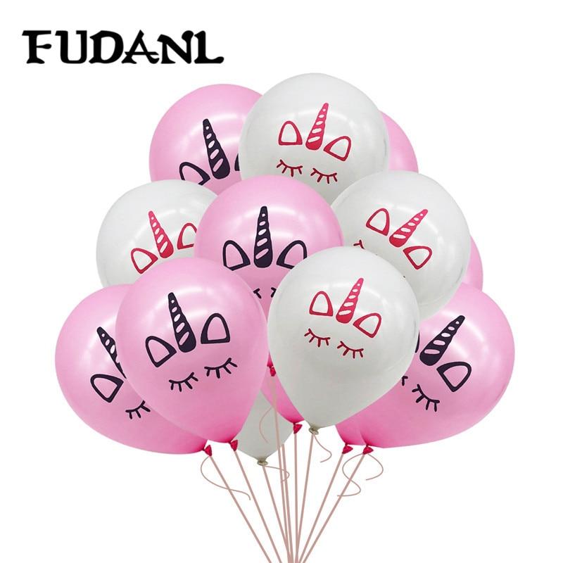 12pcs 10inch Unicorn Latex Balloon Birthday Party Baby Shower Pool Party Decor Kids Children Unicorn Party Supplies