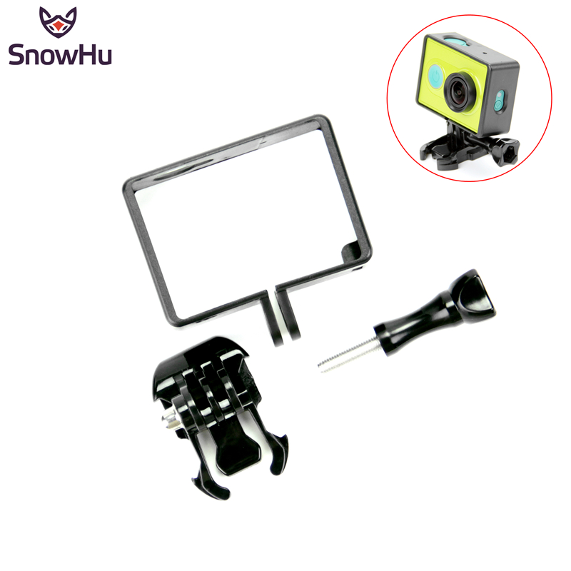 SnowHu Housing Side Frame Case Mount Protect Frame With Mount Adapter For Xiaomi YI For XiaoYi Action Camera Accessories LD05