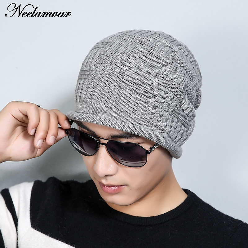 2016 unisex Fashion Hat Winter Hat For Man woman Skullies Beanies Solid Knitted Hat Warm Cap  Beanies Cap Elastic Free Shipping free shipping 2016 new 1pcs wholesale diamond grid stripe knit cap man and a woman in winter warm hat 100% quality assurance