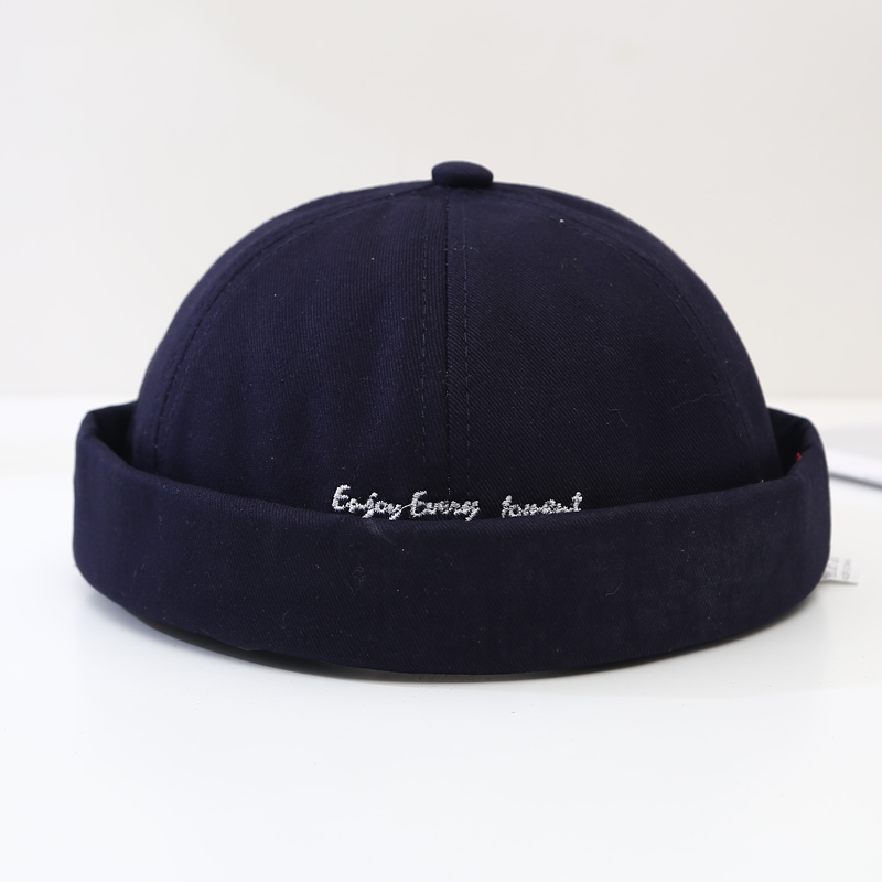 Men Street Casual Docker Sailor Biker Hat Loop Beanie Brimless Cap Fashion Unisex Pumpkin Vintage Navy Women Beanie Hat