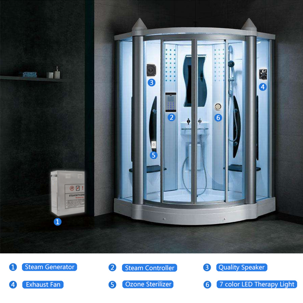 Steam generator for a shower cabin: types, principle of work recommendations for selection and installation 19
