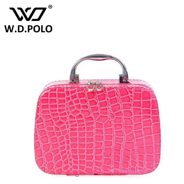 32faa42ba82c WDPOLO New 2016 Women Cosmetic Bag Small Cute Stone Pattern Cosmetic Case  Makeup Organizer Bags Ladies
