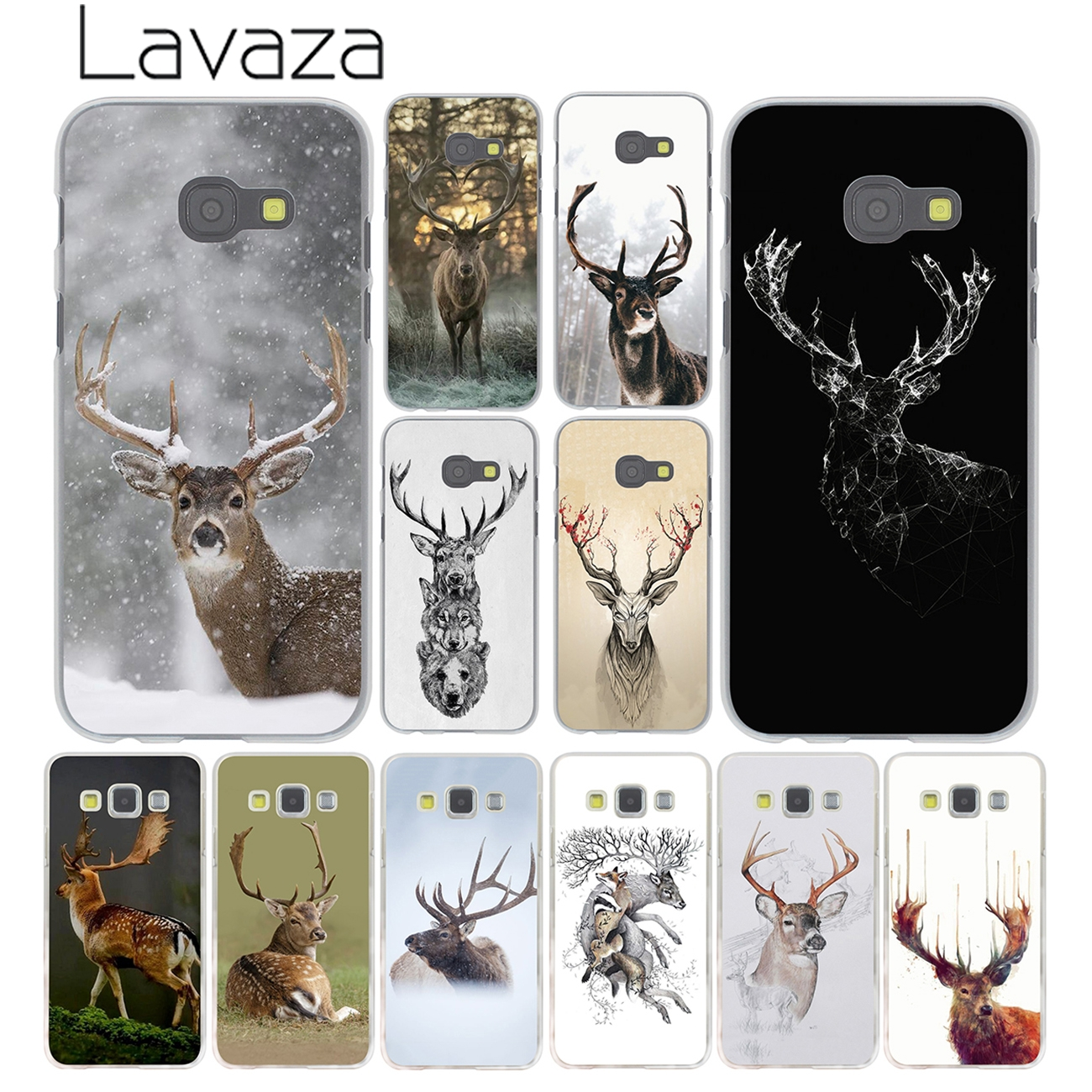 Lavaza Minimalist animal deer Minimalistic Case for Samsung Galaxy A3 A7 A8 A5 2015 2016 2017 2018 Note 8 5 4 3 Grand Prime 2 ...