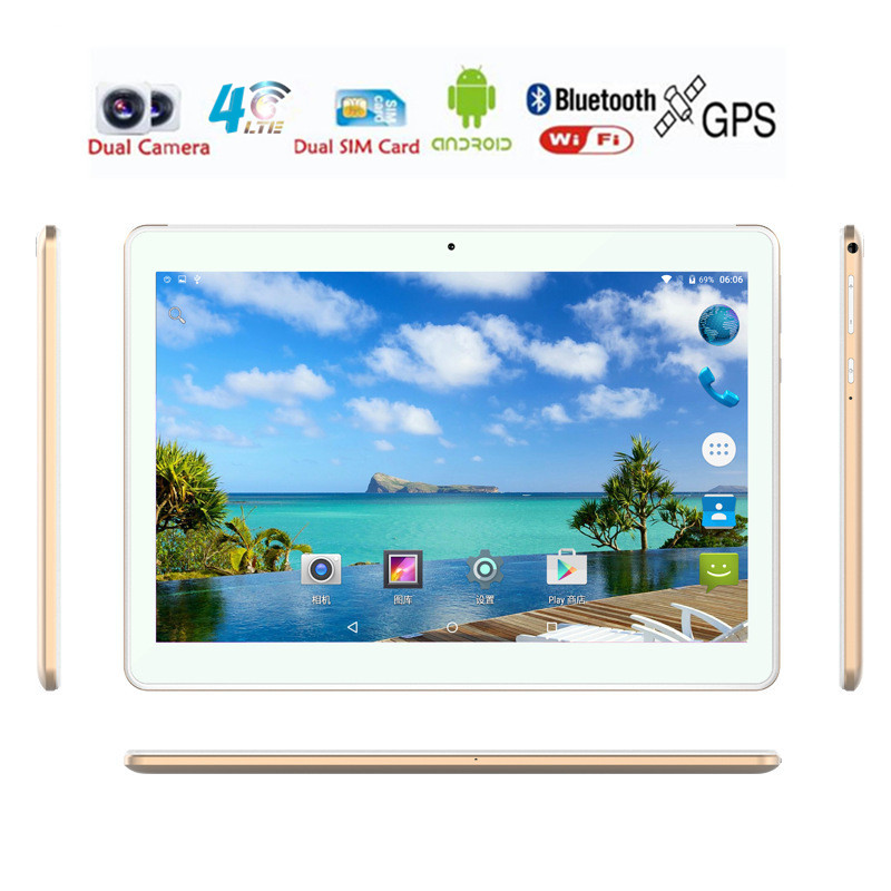 KIngway Widson tablet shop Store ZDX Brand 10 inch Tablet PC Android 6.0 4G LTE Dual SIM Call phone tablet 32gb/64gb ROM 5.0Mp Camera GPS Tablets 1920*1200IPS