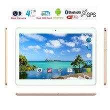 Zdx marca 10 pulgadas tablet pc android 6.0 4g lte dual SIM de Llamadas de teléfono de la tableta 32 gb/64 gb ROM 5.0mp GPS Tabletas 1920 * 1200IPS