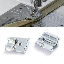 2pcs/lot Household Multi - functional Sewing Machine Accessories Double Rolled Hem Presser Foot CY-9908 button up front rolled hem heathered shorts