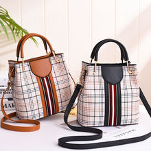 youbroer Spring Summer Fashion Ladies Bag Single shoulder Crossbody Bags Printed Bucket Bags Handbag Plaid