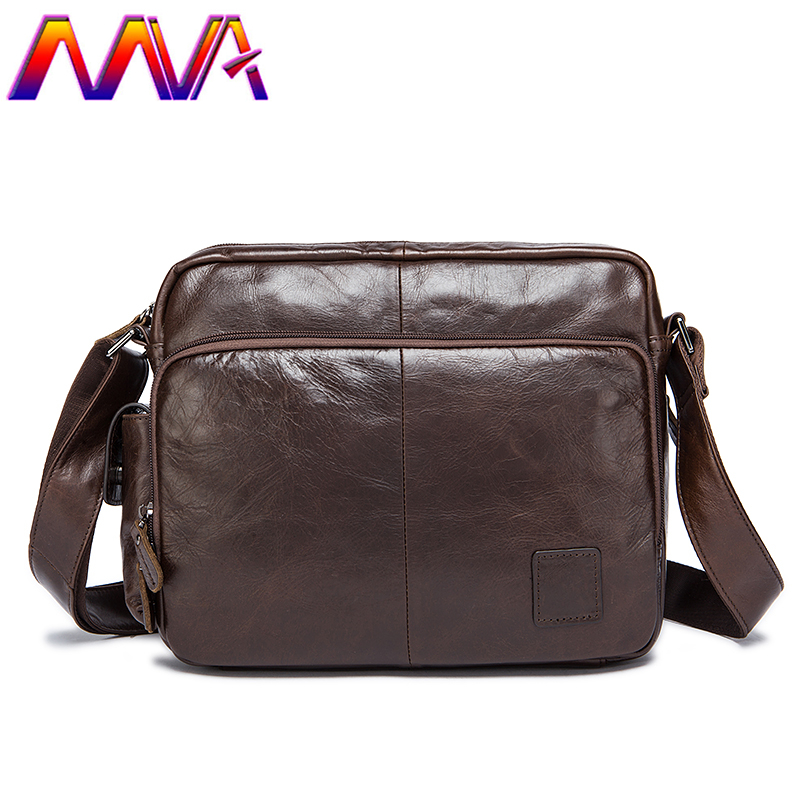 MVA Newly design vertical leather messenger bag with 100% genuine leather men shoulder bag for classic mens crossbody bags 2018 newly design men s genuine real 100