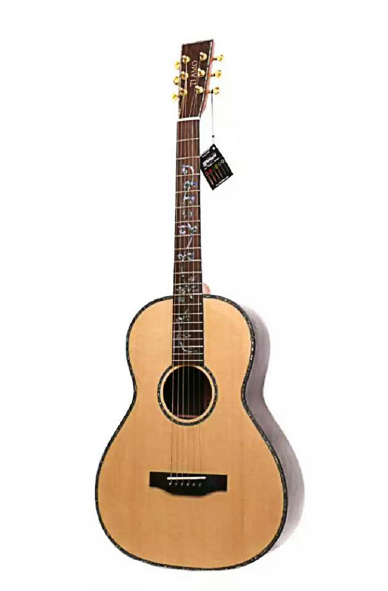 все цены на full solid wood 38inch acoustic guitar with flower inlay fretboard handmade professional guitar